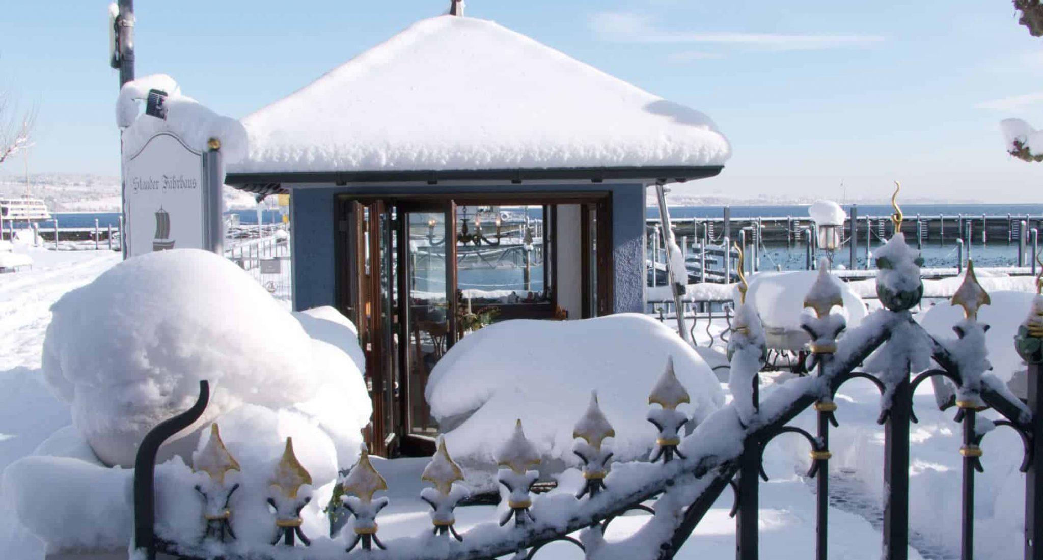 Schnee - Restaurant Staader Fährhaus