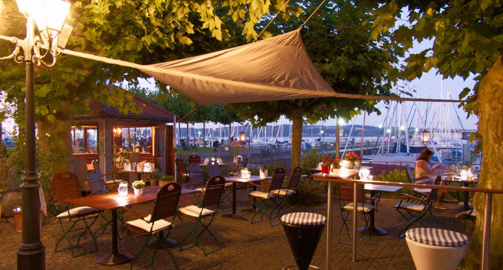 Terrasse - Restaurant Staader Fährhaus